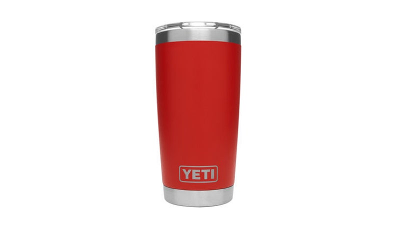b44b9aa3ea6 REAL YETI 20 oz. Laser Engraved Stainless Steel Canyon Red Yeti Rambler  Personalized Vacuum Insulated YETI