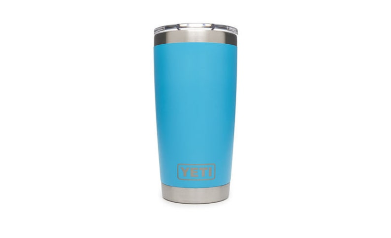 82ffc300c72 REAL YETI 20 oz. Laser Engraved Stainless Steel Reef Blue Yeti Rambler  Personalized Vacuum Insulated YETI