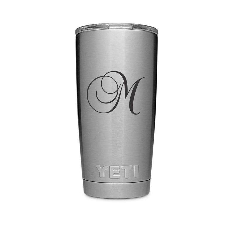 e079705e248 REAL YETI 20 oz. Laser Engraved Stainless Steel Yeti Rambler Personalized  Vacuum Insulated YETI
