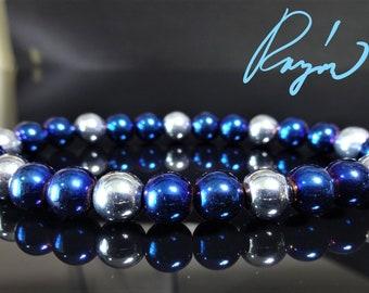 3f801afe35a1f Blue men bracelet | Etsy
