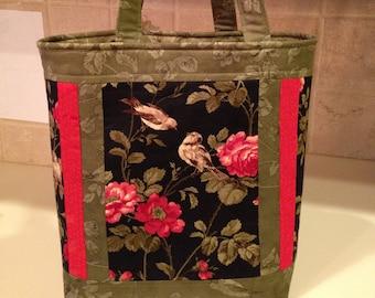 Wintergreen Purse Handbag Rose Tote Bag KIT //// Moda Fabric