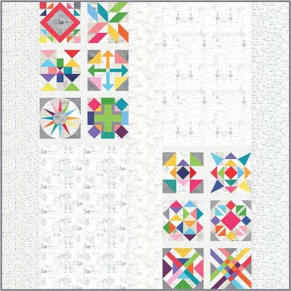 Snowflakes QUILT KIT  Quilt Pattern Moda Hazelwood Fabric