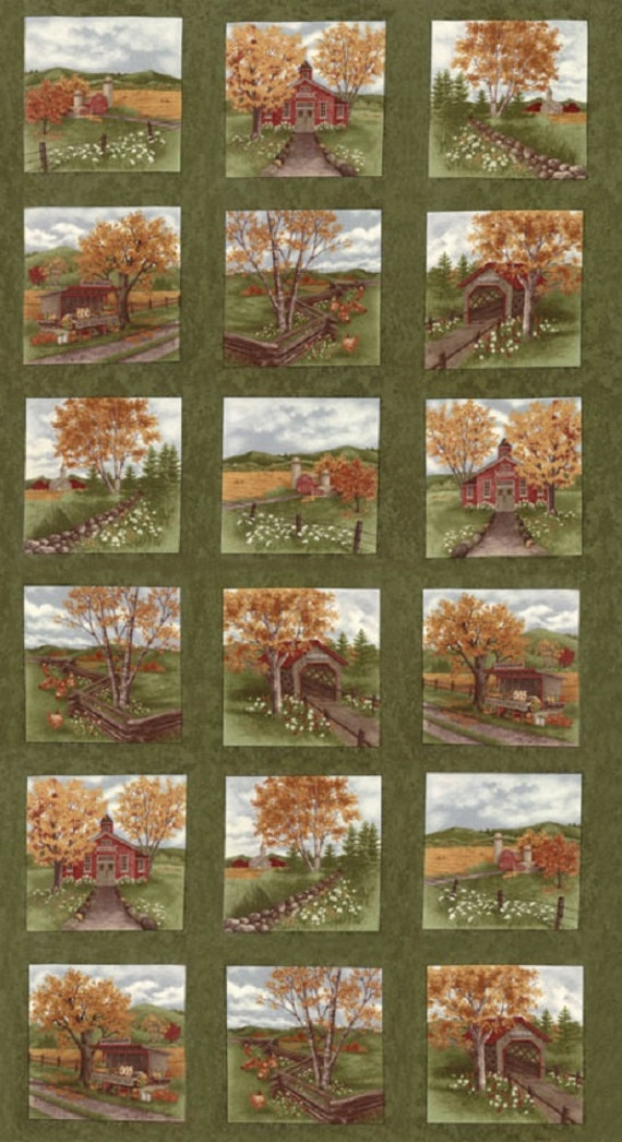 "Rare Moda Fabric by Holly Taylor Holiday in the Pines 10/"" /& 4/"" FABRIC BLOCKS"