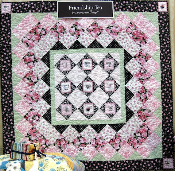 Friendship Tea Quilt Kit Red Rooster Quilting Fabric Quilt Etsy