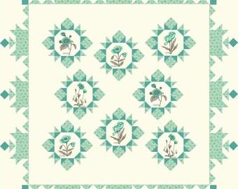 LE PAVOT Quilt KIT - Quilt Pattern + Moda Fabric