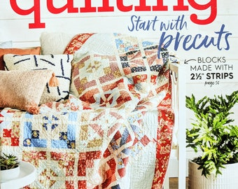 AMERICAN PATCHWORK and QUILTING Magazine August 2018 - Start with Precuts