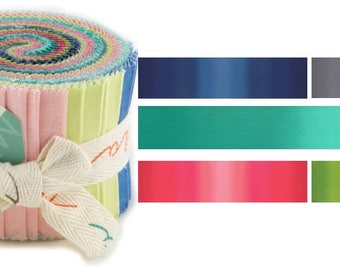 COLOR THEORY - Moda Ombre Fabric Junior Jelly Roll by Vanessa Christenson of V and Co.