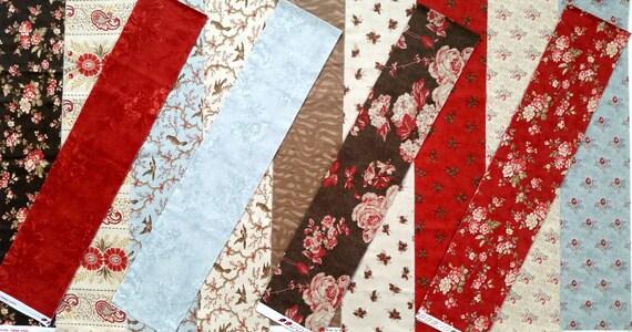 Park Avenue Kit 3 Sisters Moda Fabric Eighth Yard Strips Etsy