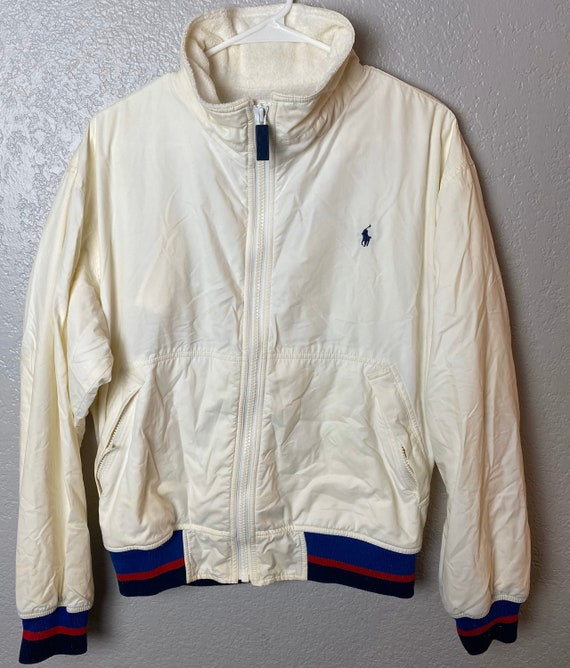 Vintage 1990s Polo Ralph Lauren White Terry Cloth