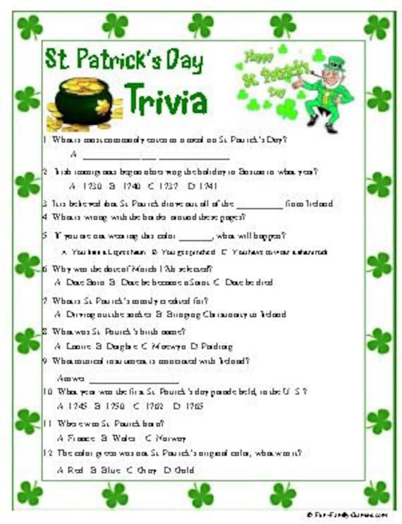 St Patrick's Day Trivia