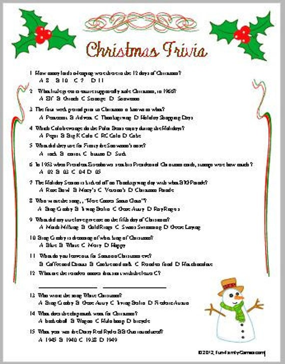 image 0 - Fun Christmas Trivia
