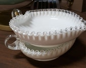 Fenton Silvercrest Heart-Shaped Bowls (2)