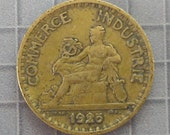 France - 1925 Bon Pour One Franc Coin - World Coins