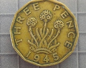 United Kingdom - 1945 3 Pence Coin - World Coins