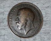 1917 George V One Penny - World Coins