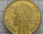 France - 1939 One Franc Coin - World Coins
