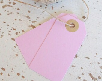 Parcel Tags Pk10 - Baby Pink