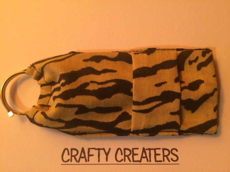 Keyring Tiger Stripe Lip Balm Holder  lipsalve lipstick pouch usb flashdrive case