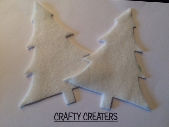 CARD CRAFTS FELT CHRISTMAS TREES  CHRISTMAS SHAPES  TOPPERS,EMBELLISHMENT