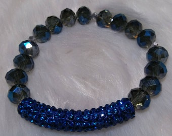 Crystals Tube Bracelet