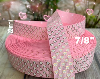 PINK WITH GOLD SCROLLS WIRED RIBBON 40 YARD ROLLS