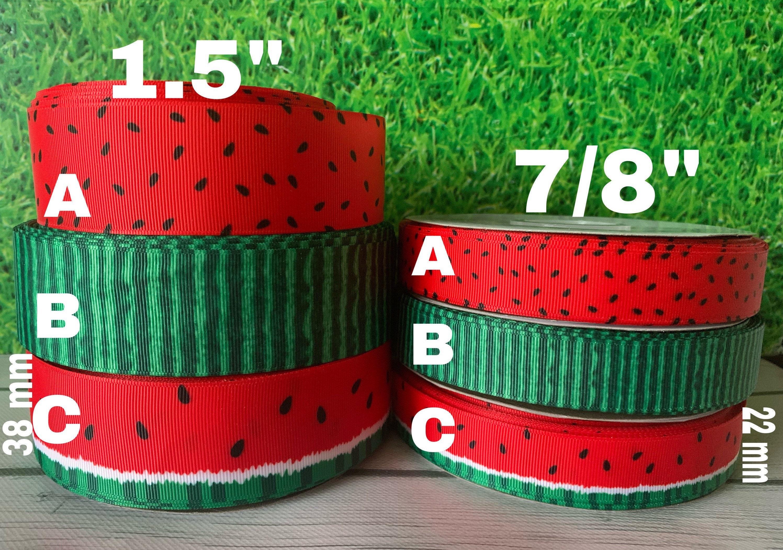Grosgrain Ribbon 38 mm Print by the Yard Watermelon 1.5 Inch