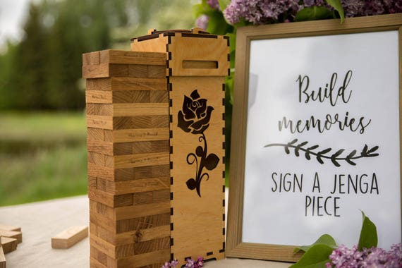 Alternative Wedding Gifts: Personalized Alternative Wedding Guest Book Tower Blocks