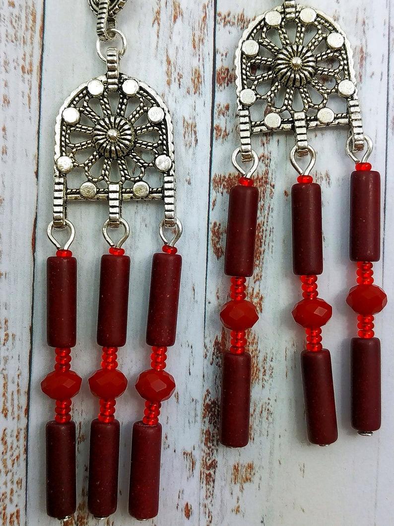 Earrings earrings bohemian sits hippie boho gipsy original ethnic LIU