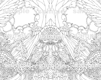Adult coloring pages / Handmade / Coloring Patterns :-)