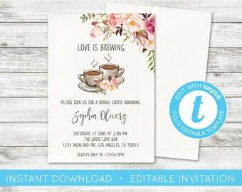 9b24910ce9f9 Coffee bridal invite