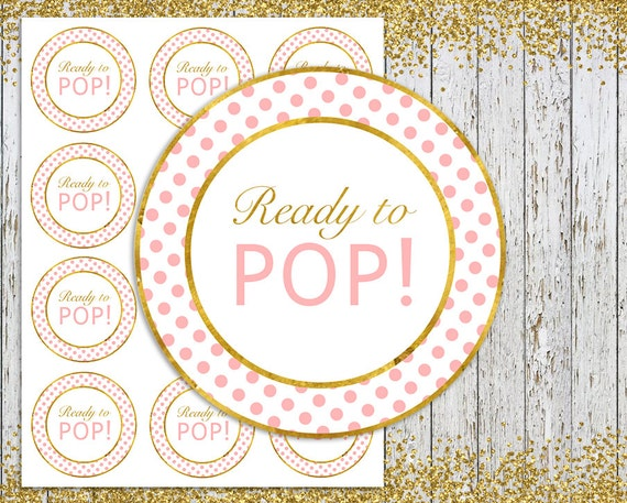 Ready To Pop Stickers Pink And Gold Tags
