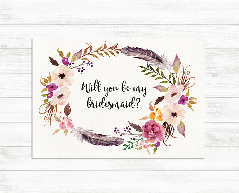 photo regarding Printable Bridesmaid Cards referred to as Will Your self Be My Bridesmaid, Floral Printable Bridesmaid Card, Bridesmaid Proposal Card, Floral Bridesmaid Printable, Floral Bridesmaid Card