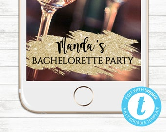 EDIT YOURSELF, Templett Snapchat Geofilter, Bachelorette Snapchat Geofilter, Instant Download, Birthday Snapchat filter, Editable Geofilter