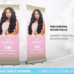 Nail design Beauty salon custom retractable banner stand store stand banner Roll up BANNER STAND Stand Banner Printing MAKEUP Artist