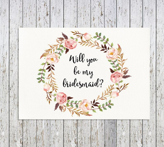 Dashing image throughout bridesmaid proposal printable
