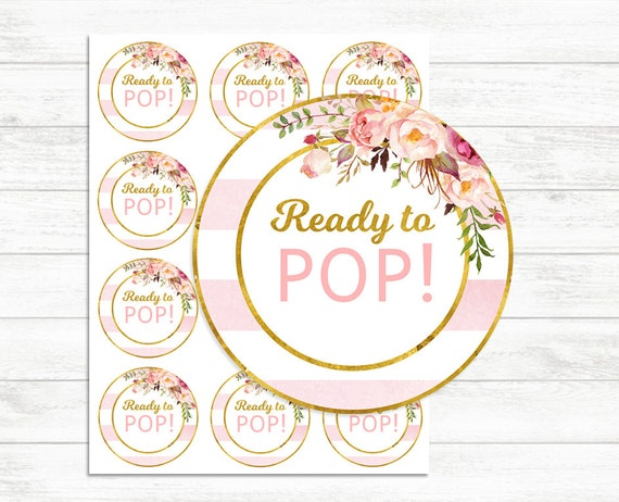 Printable Ready To Pop Stickers Pink And Gold Ready To Pop Etsy