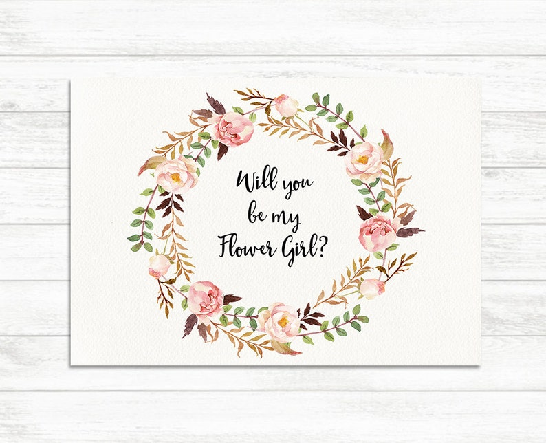 photograph about Floral Printable named Will Yourself Be My Flower female, Floral Printable Flower Woman Card, Flower Female Proposal Card, Floral Printable Marriage Card, Floral Flower Woman