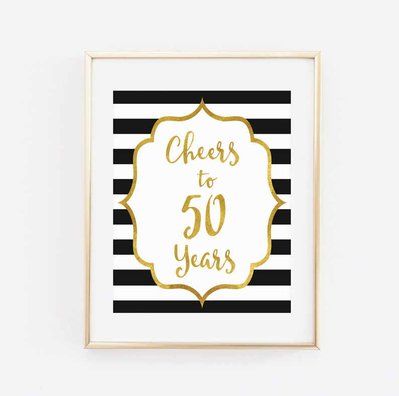image relating to Printable 50th Birthday Signs called Cheers in direction of 50 a long time, Printable 50th birthday decor, Cheers in direction of 50 several years birthday indication, Birthday occasion decorations, Birthday Printable Banner