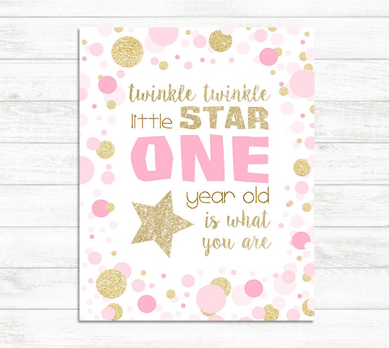 Twinkle Little Star 1st Birthday Decoration One Year