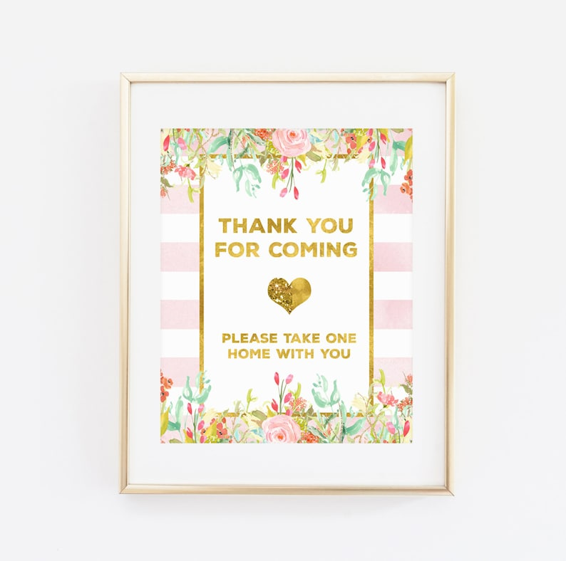 8eaa83959add Printable Baby Shower Sign Thank you for Coming please take