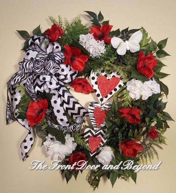 Valentine Wreath Front Door Wreath For Valentines Day Etsy