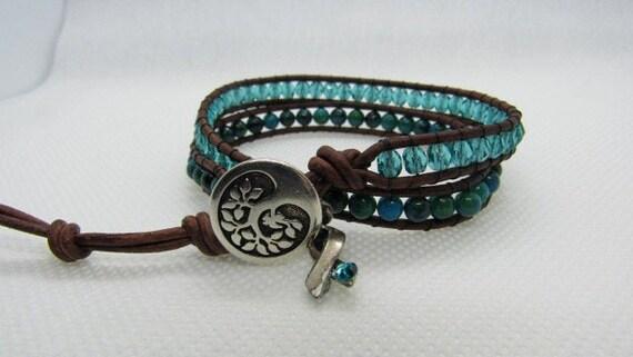 Teal Bracelet For Cervical Or Ovarian Cancer Awareness And Etsy