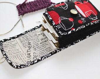 Circular needle case Knitting needle case Knitter's Pride/KnitPro/Addi/Clover/ChiaoGoo needles organizer Knitting Storage knit pouch gift
