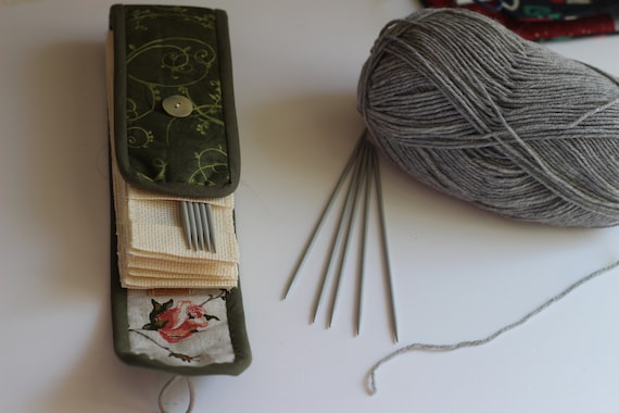 Handmade Poppy's Knitting Needle Case