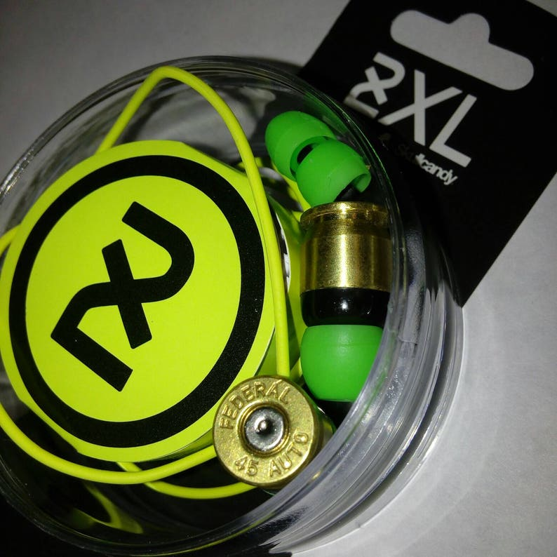 bd1ddfeb3bb Skullcandy Bullet Headphones with .45cal casings earbuds | Etsy