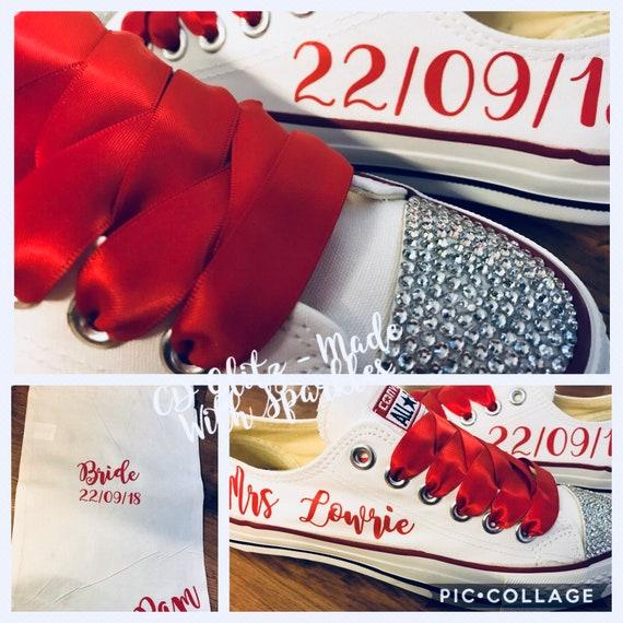 Personnalisés de mariage Style Converse Converse Converse Bling Chaussures femmes | Commandes Sont Les Bienvenues  3803aa