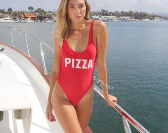 40b0c94623 Pizza Bathing suit one-piece