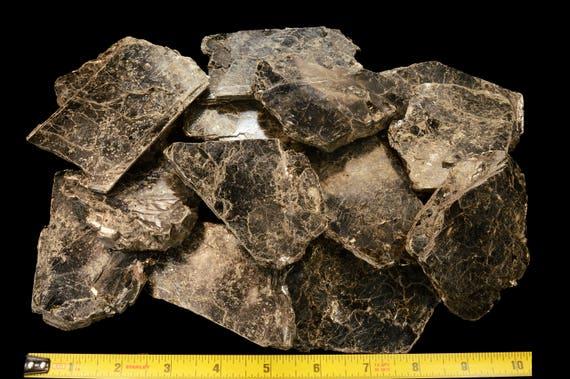 """Biotite Book Mica 3/"""" 2-4 Oz Thin Rock Mineral Specimen Rough Reiki Crystals"""