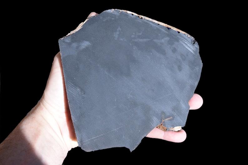 SKU 56 Davis Creek AAA Grade Lapidary Slab Rough Rock Mineral Raw Healing Stone Rare Silver Sheen Obsidian Slice 7 x 7 15 Oz