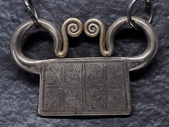 vintage Asian silver spirit house necklace